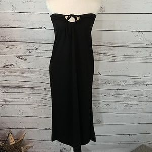 Finesse Lg black strapless dress
